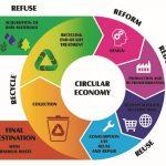 سیستم مدور اقتصاد جهت بالا بردن میزان استفاده از پلیمر ها و ضایعات پلاستیک از اول مرحله تولید تا استفاده و بازیافت مجدد آنها را بررسی می کند.