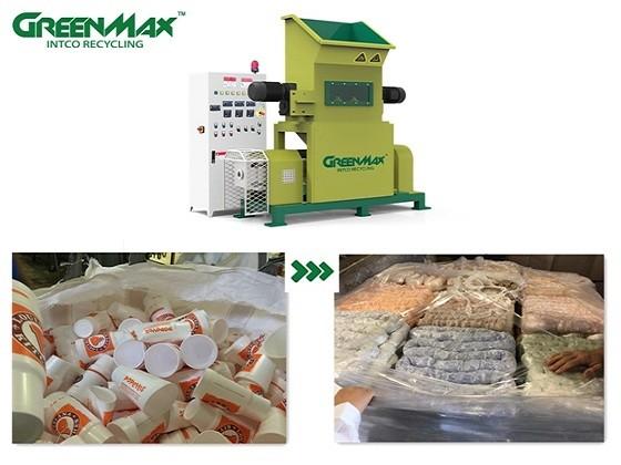 دستگاه متراکم کننده بریکت ساز باعث کاهش حجم و چگال تر شدن ضایعات پلاستیک می شود.
